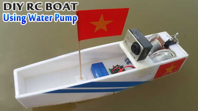 diy rc boat with water pump
