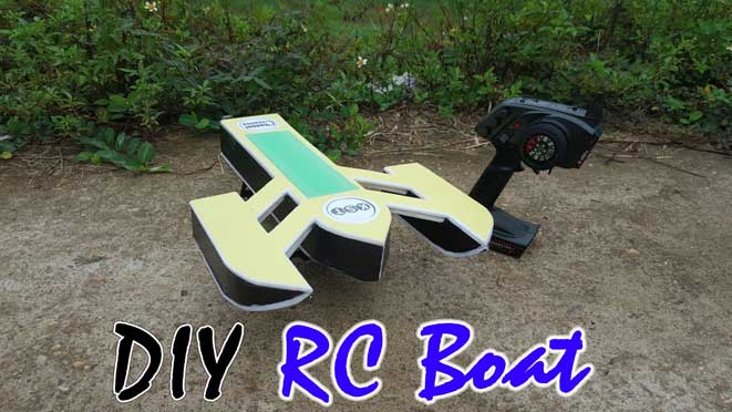 DIY homemade rc boat