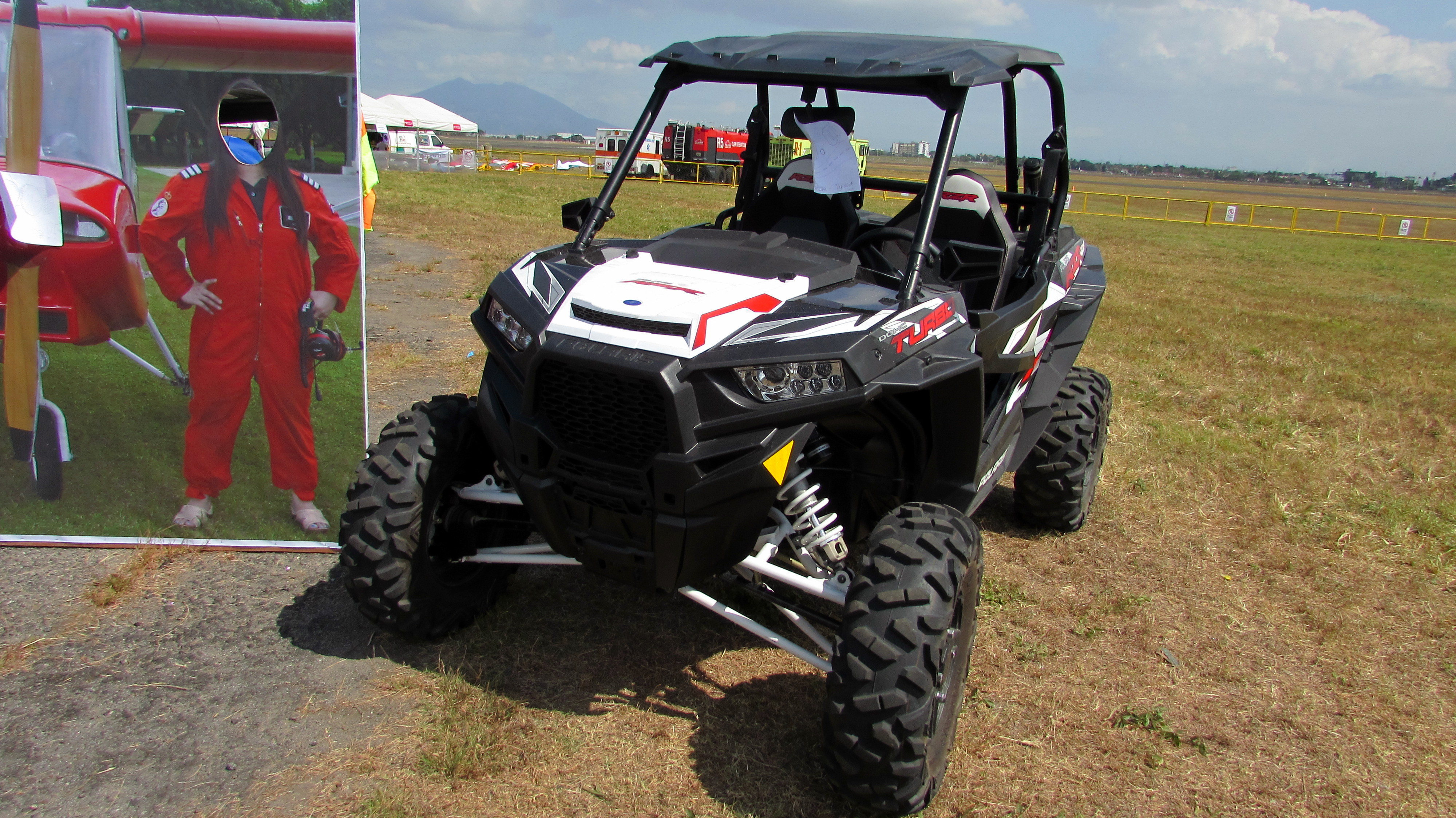 Photo of Polaris RZR XP 900 with Ball Joint Tool & aftermarket accessories Terrain Vehicle (ATV). Photo taken during the 20th Balloon Fiesta at Clark Air Field in Pampanga