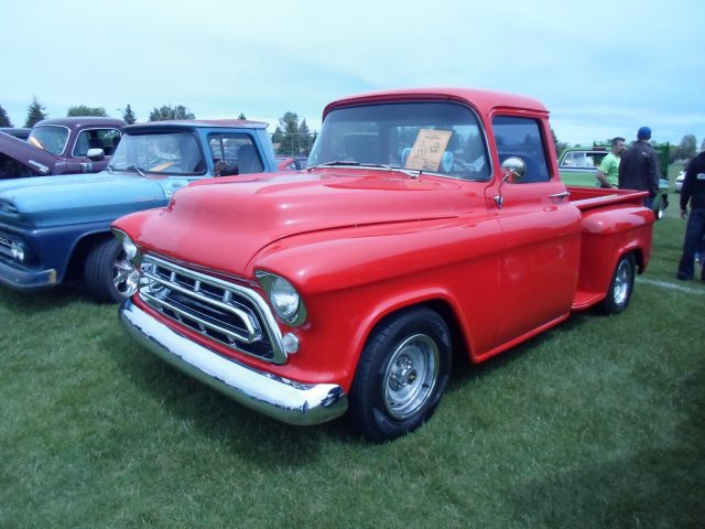 1957 chevy truck - red color 1957 chevy truck