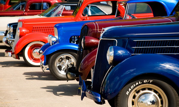 mix color of classic trucks
