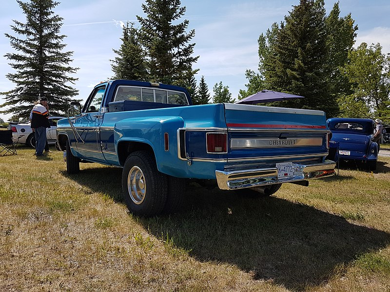 blue 1980 chevy truck