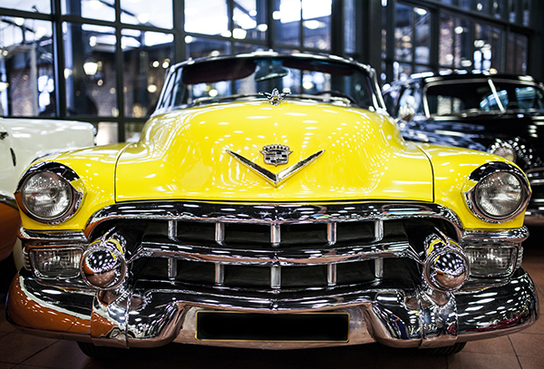yellow automobile
