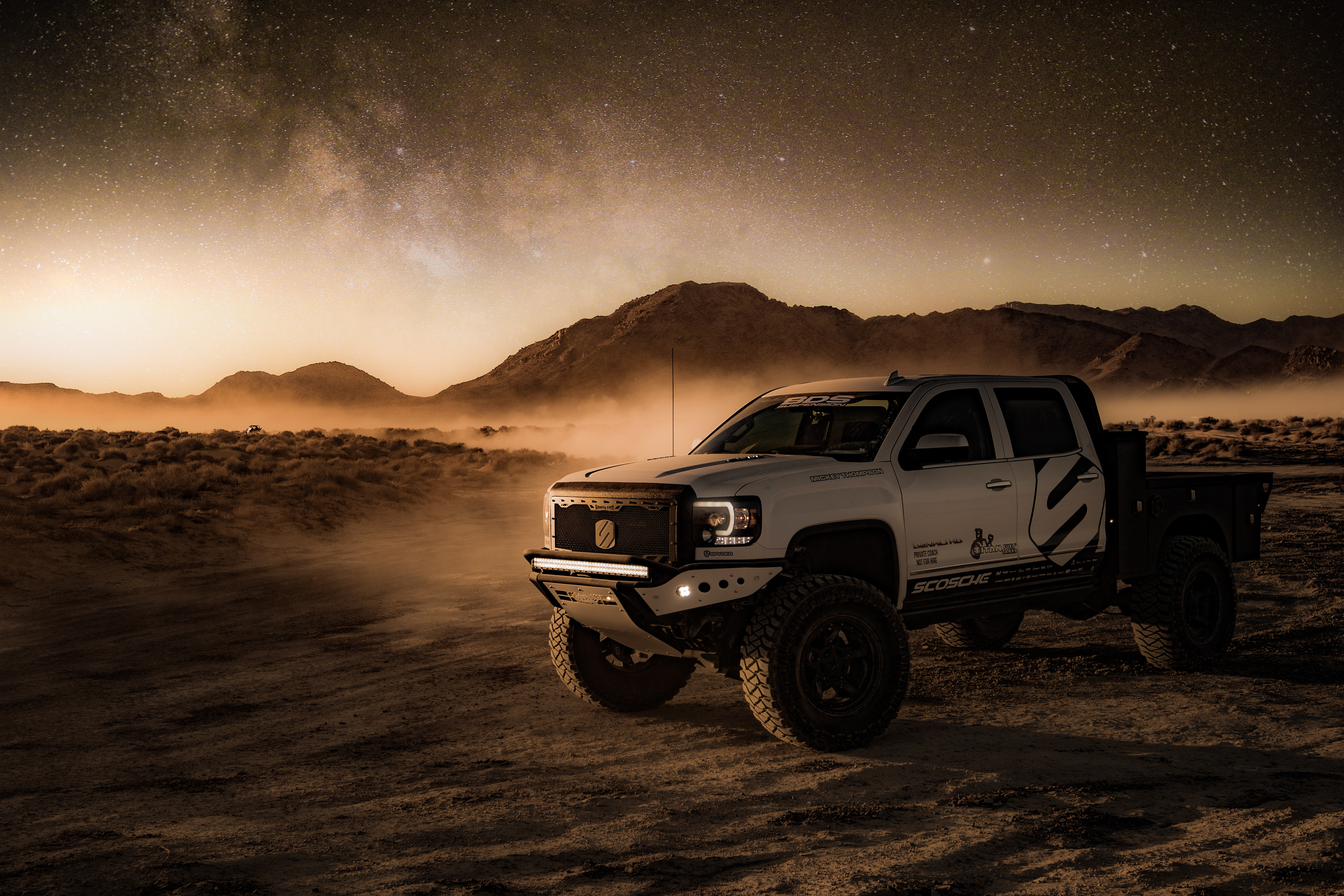 Pick up Truck in the dessert